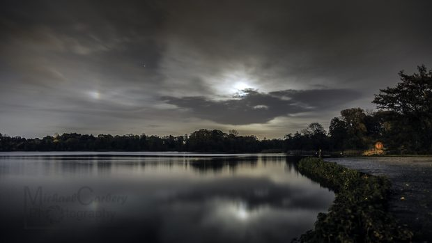 Moon Over Lurgan Park Lake